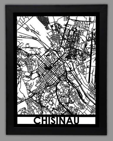 Chisinau - Cool Cut Map Gift