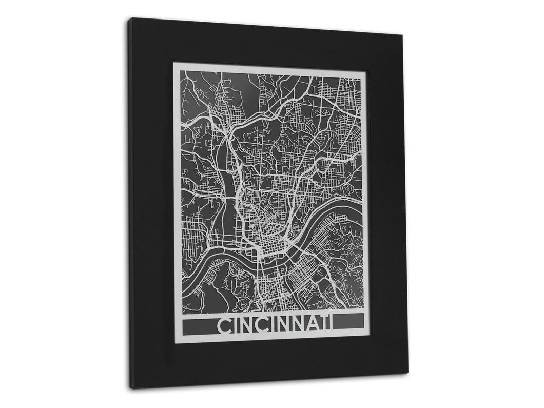 Cincinnati - Stainless Steel Map - 11