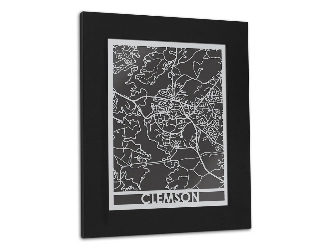 Clemson - Stainless Steel Map - 5