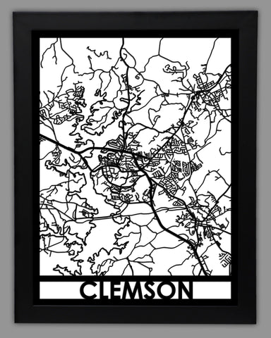 Clemson - Cool Cut Map Gift