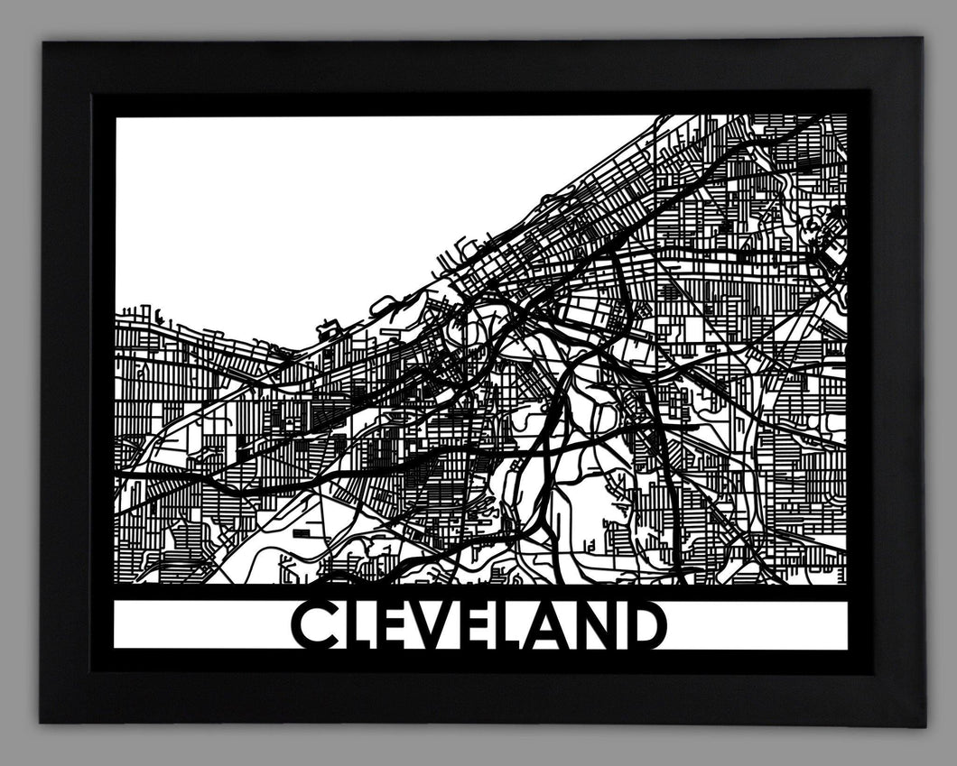 Cleveland - Cool Cut Map Gift