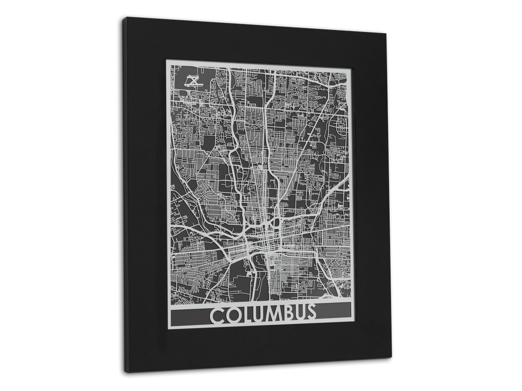 Columbus - Stainless Steel Map - 11