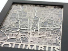 "Load image into Gallery viewer, Columbus - Stainless Steel Map - 5""x7"""