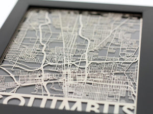 "Columbus - Stainless Steel Map - 5""x7"""