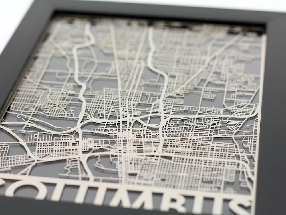 Columbus - Stainless Steel Map - 5