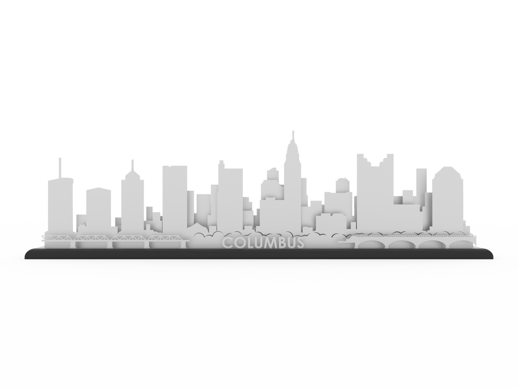 Columbus Stainless Steel Skyline - Cool Cut Map Gift