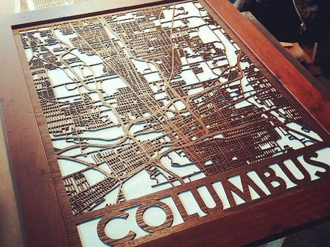 Custom Framed Wooden Map - Cool Cut Map Gift