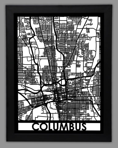 Columbus - Cool Cut Map Gift