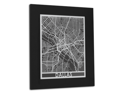 Dallas - Stainless Steel Map - 11