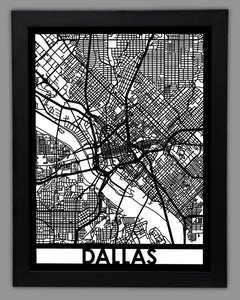 Dallas - Cool Cut Map Gift