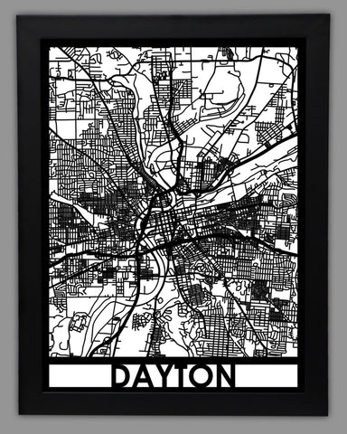 Dayton - Cool Cut Map Gift