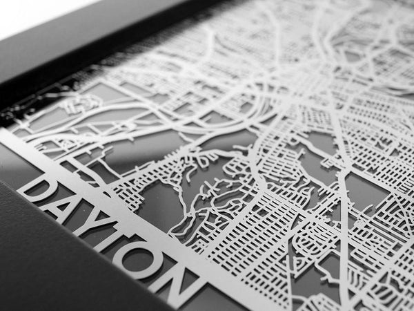 work from home dayton ohio dayton oh city map metal wall art cut map gift cut maps 4202