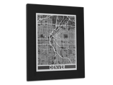 "Denver - Stainless Steel Map - 11"" x 14"" - Cut Maps Cool Cut Map Gift"