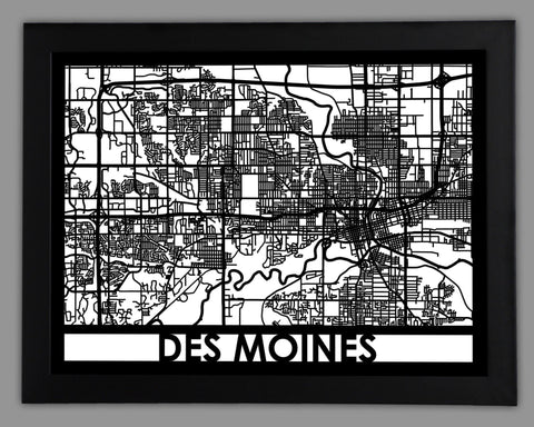 Stockholm city map metal wall art cut maps for Craft stores des moines
