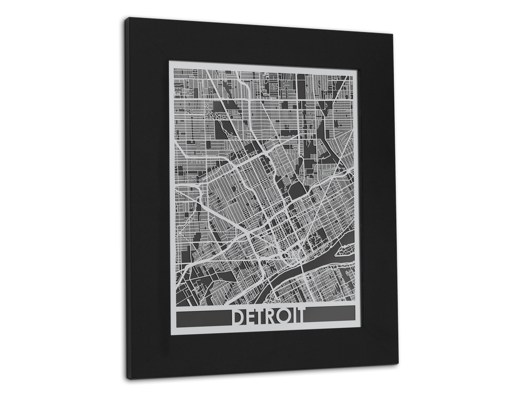 Detroit - Stainless Steel Map - 11