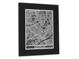"Detroit - Stainless Steel Map - 11"" x 14"" - Cool Cut Map Gift"
