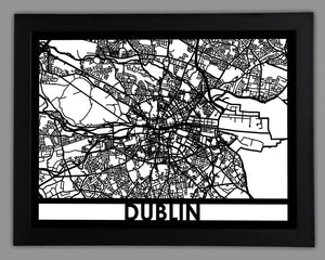 Dublin - Cool Cut Map Gift
