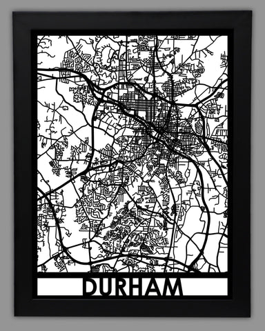 Durham - Cool Cut Map Gift