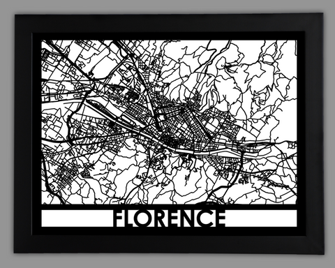 Florence - Cool Cut Map Gift