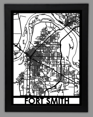 Fort Smith - Cool Cut Map Gift