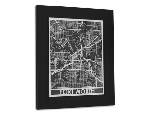 Fort Worth - Stainless Steel Map - 11