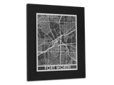 "Fort Worth - Stainless Steel Map - 11"" x 14"" - Cool Cut Map Gift"
