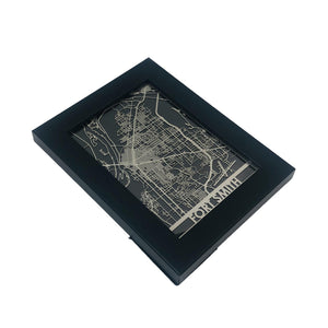 "Fort Smith - Stainless Steel Map - 5""x7"""