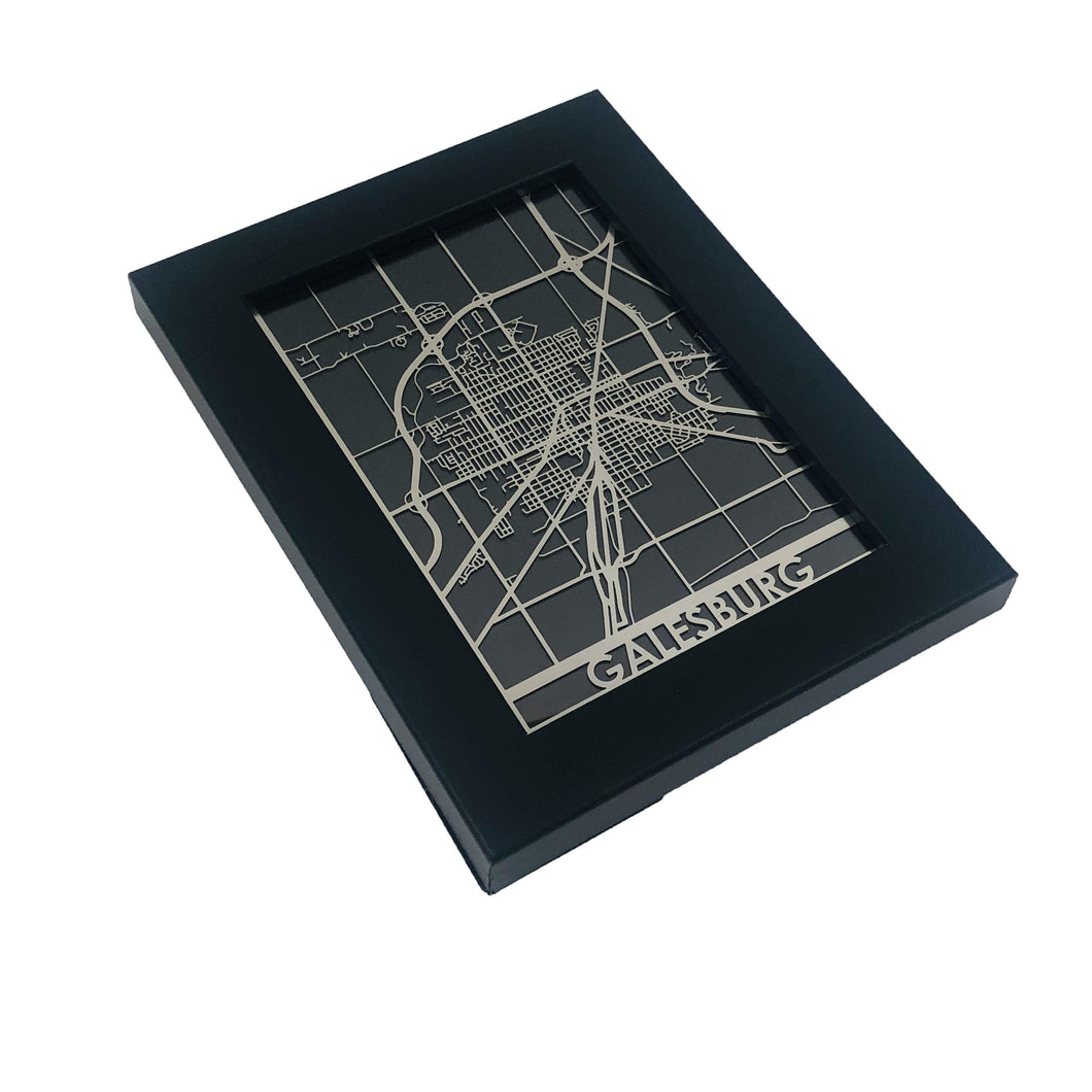 Galesburg - Stainless Steel Map - 5