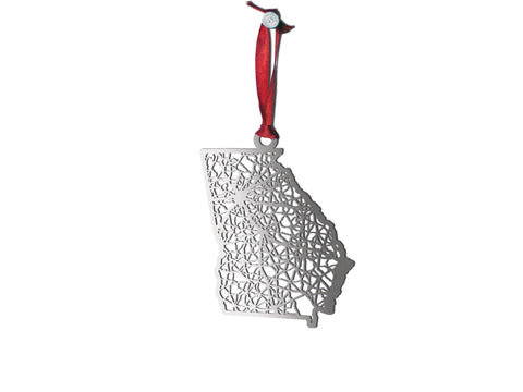 Georgia Ornament - Cool Cut Map Gift