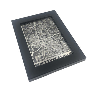"Grand Rapids - Stainless Steel Map - 5""x7"" - Brad's Deals"
