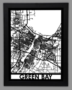Green Bay - Cool Cut Map Gift
