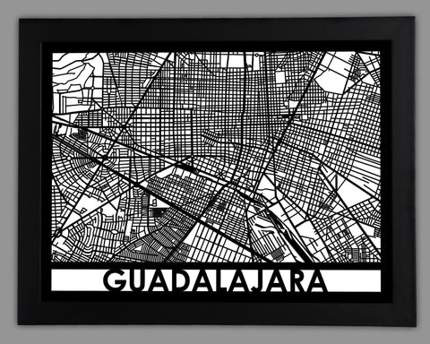 Guadalajara - Cool Cut Map Gift