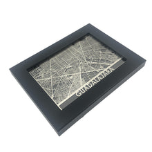 "Load image into Gallery viewer, Guadalajara - Stainless Steel Map - 5""x7"""