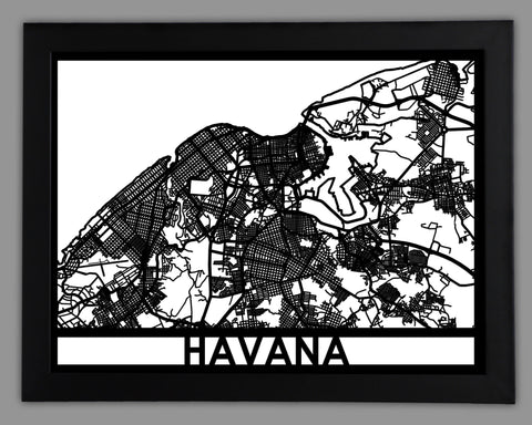 Havana - Cool Cut Map Gift