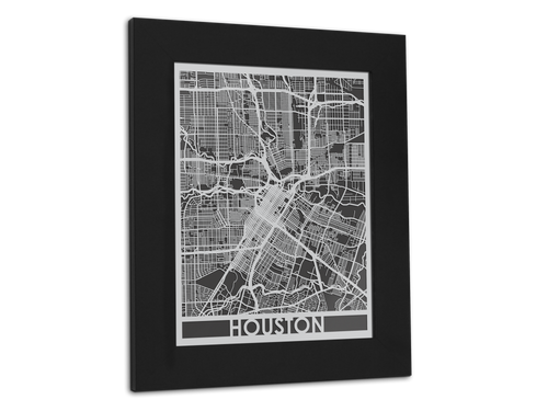 Houston - Stainless Steel Map - 11