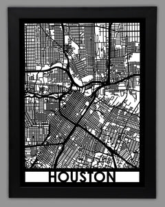 Houston - Cool Cut Map Gift