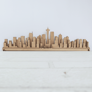 "Seattle Wooden Skyline - 18"" x 6"""