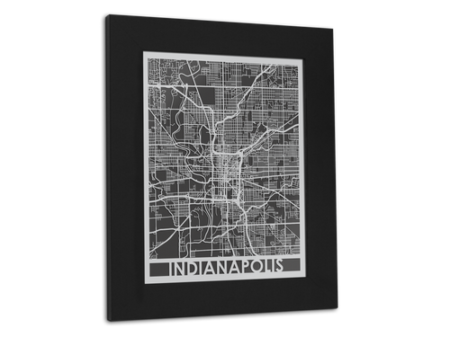 Indianapolis - Stainless Steel Map - 11