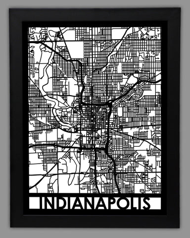 Indianapolis - Cool Cut Map Gift