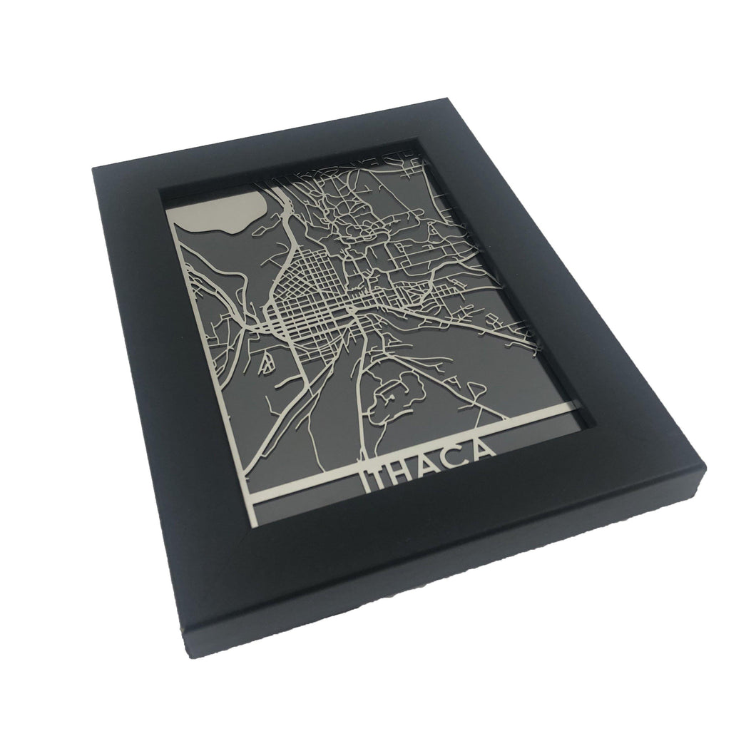 Ithica - Stainless Steel Map - 5