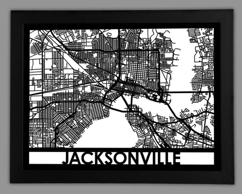 Jacksonville - Cool Cut Map Gift