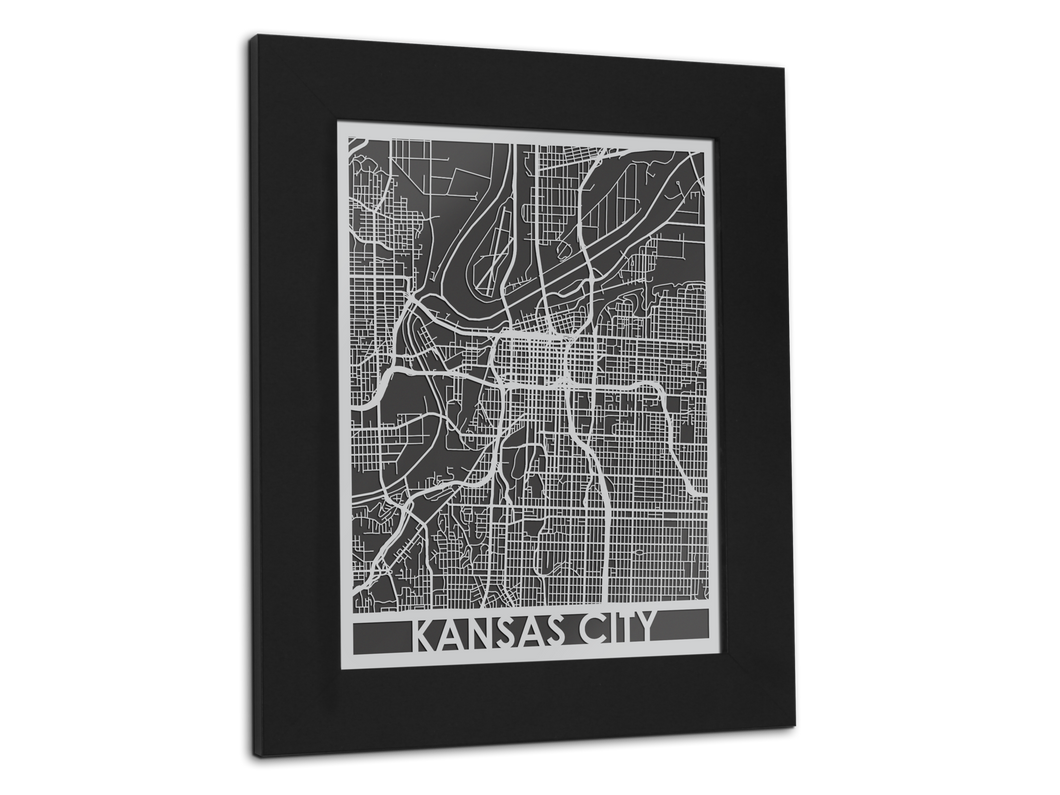 Kansas City - Stainless Steel Map - 11