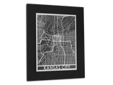 "Kansas City - Stainless Steel Map - 11"" x 14"" - Cut Maps - 1"