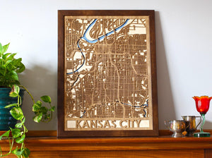 "18""x24"" Kansas City 3 Layer Map"