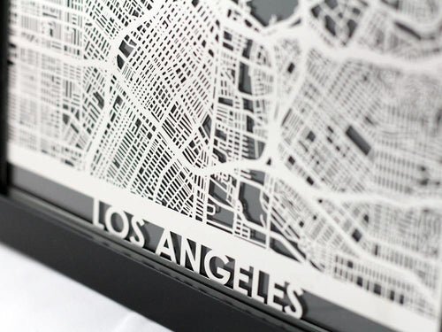 Los Angeles - Stainless Steel Map - 5