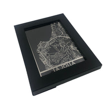 "Load image into Gallery viewer, La Jolla - Stainless Steel Map - 5""x7"""