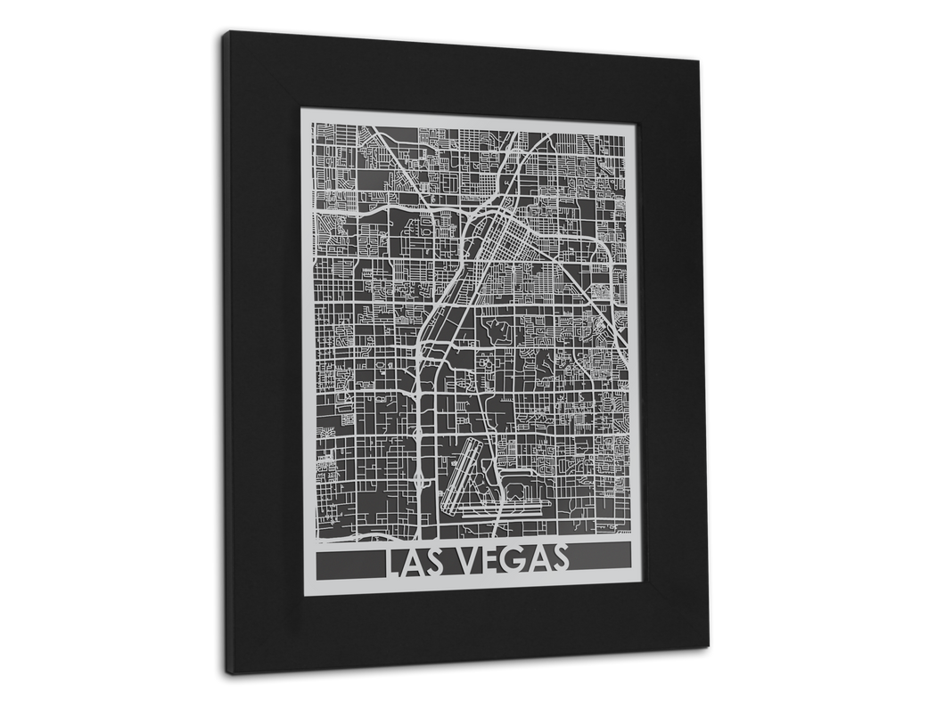 Las Vegas - Stainless Steel Map - 11