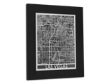 "Las Vegas - Stainless Steel Map - 11"" x 14"" - Cut Maps - 1"