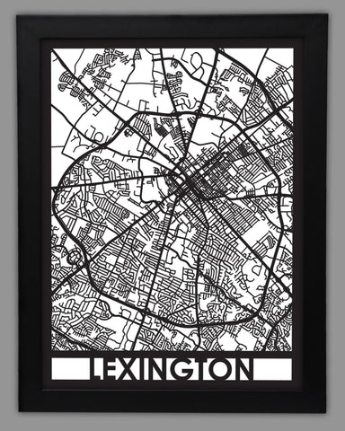 Lexington - Cool Cut Map Gift