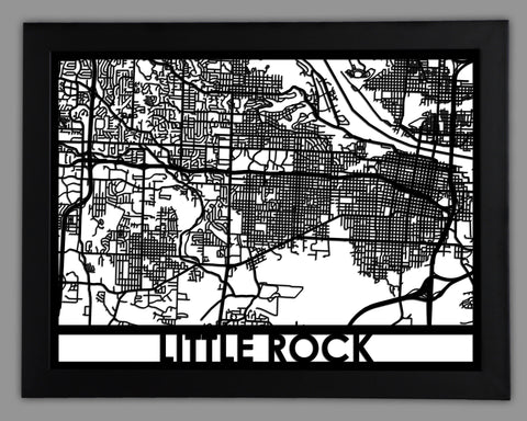 Little Rock - Cool Cut Map Gift